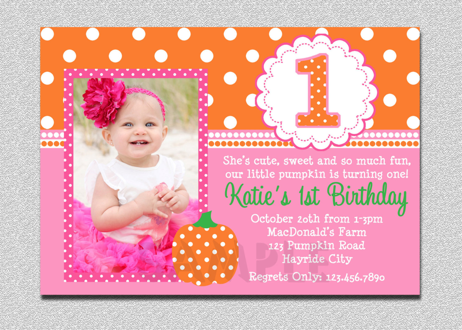 1st birthday photo card invitations ; baby-girl-first-birthday-party-invitations-for-your-save-the-dates-and-invites-13