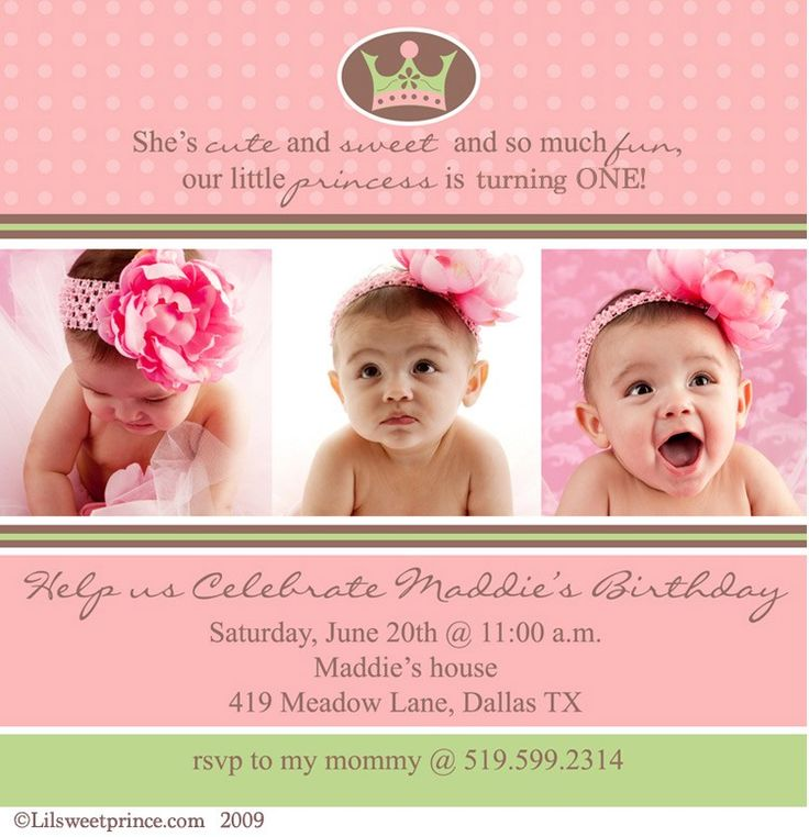 1st year birthday invitation card design ; Enchanting-First-Birthday-Invitations-Girl-Which-Can-Be-Used-As-Birthday-Invitations-Free