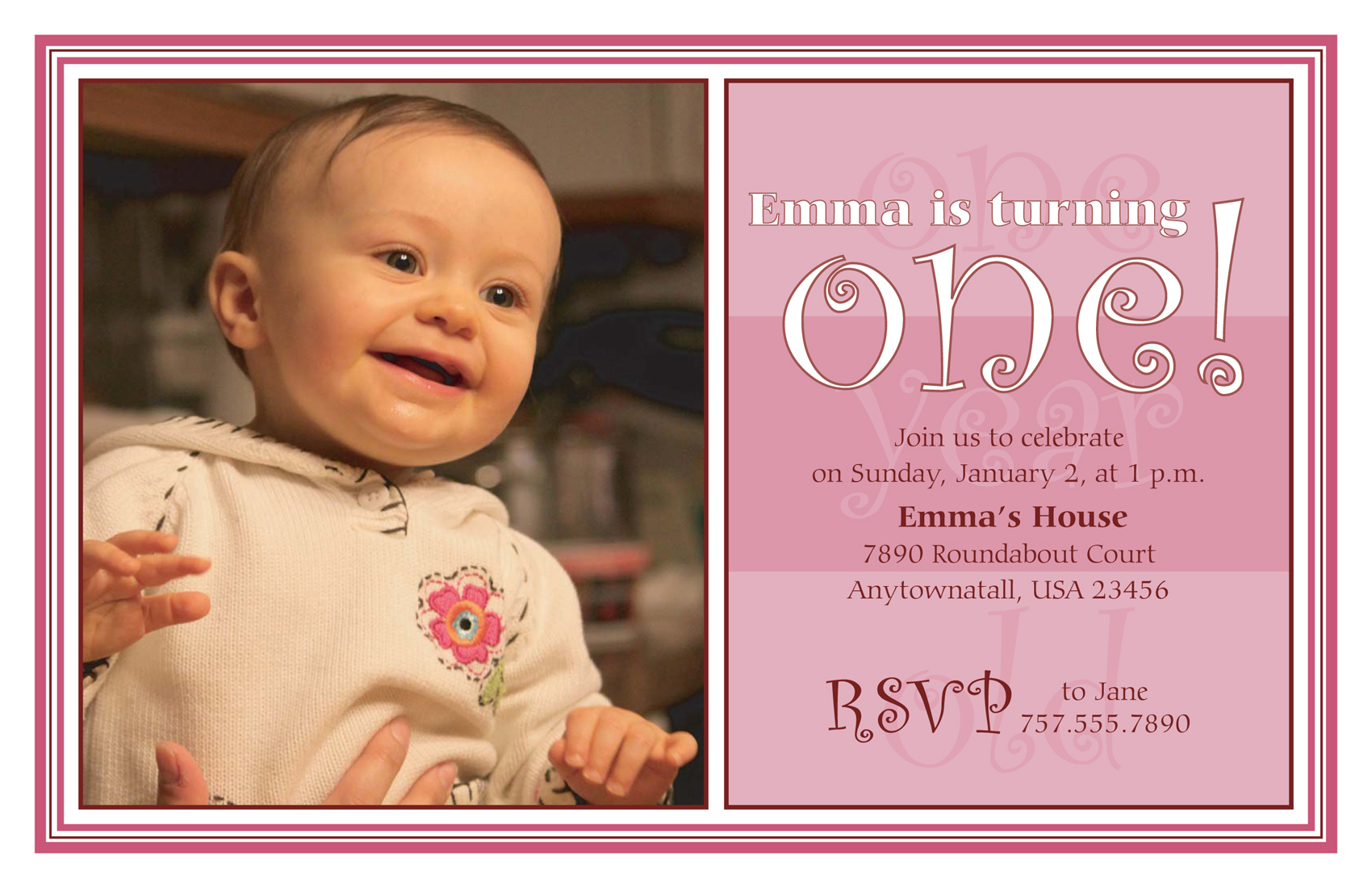 1st year birthday invitation card design ; first-birthday-party-invitations-with-graceful-template-Birthday-Invitation-Cards-invitation-card-design-using-a-unique-design-2