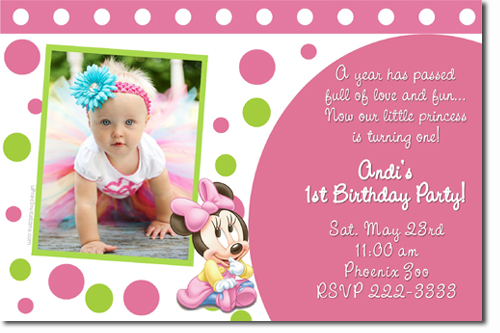 1st year birthday invitation card design ; for-baby-birthday-invitation-card-design-pink-background-perfect-template-ideas-concept-real-picture-first
