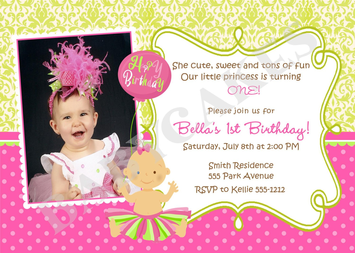 1st year birthday invitation card design ; invitation-card-birthday-sample-inspirationalnew-1st-birthday-invitation-message-examples-word-thank-you-card-template