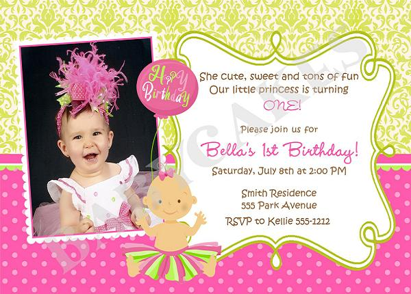 1st year birthday invitation card template ; samples-of-birthday-invitations-first-birthday-invitation-wording-and-1st-birthday-invitations