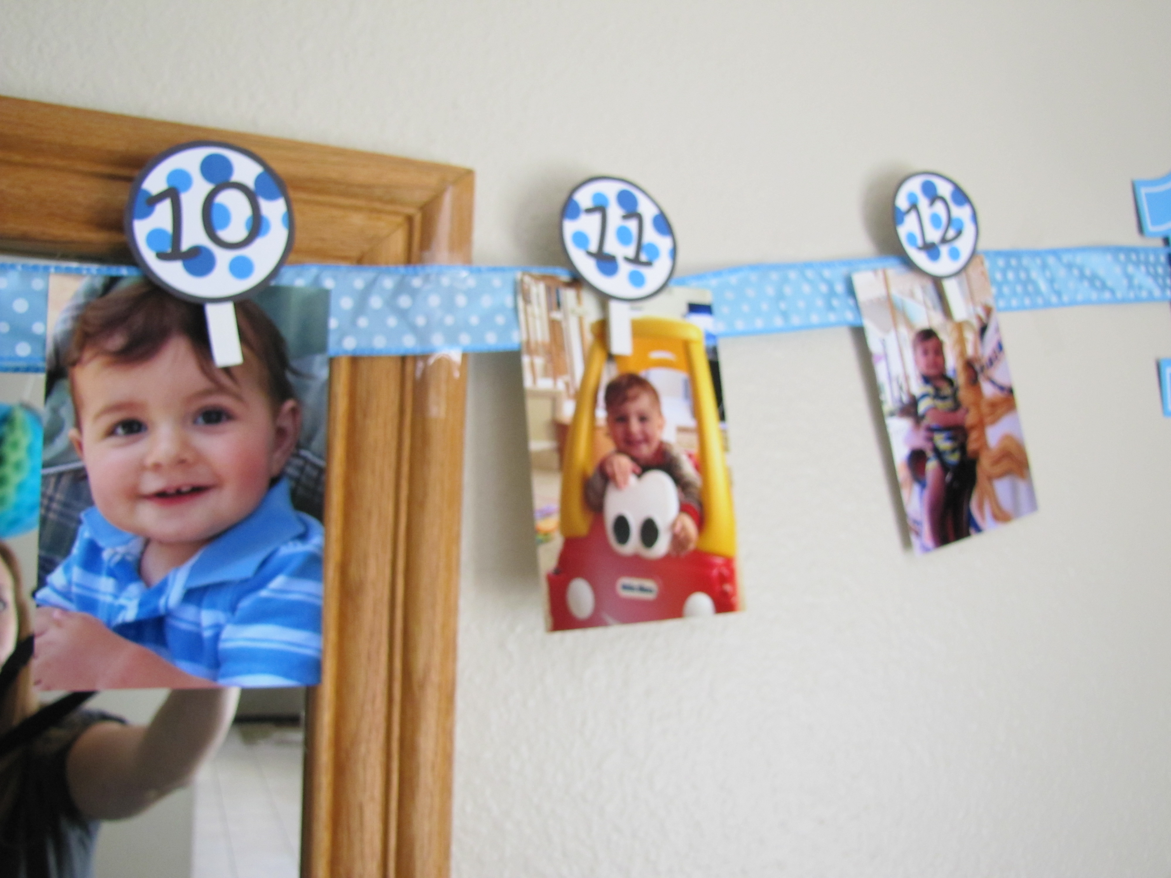 1st year birthday photo banner ; a875f4ea6206934da620a8edd762e71d