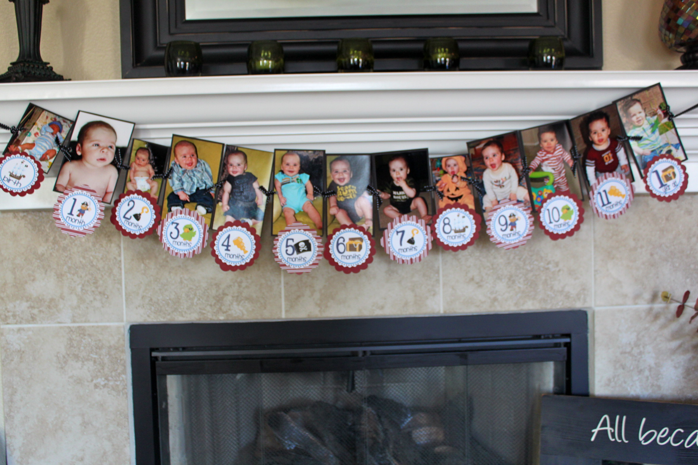 1st year birthday photo banner ; dc96272a8fcbe6ce0226b11a099a3a4b