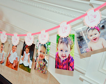 1st year birthday photo banner ; il_340x270