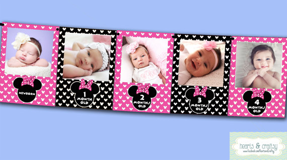 1st year birthday photo banner ; il_570xN