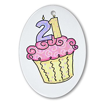 21st birthday clipart images ; 21st-birthday-cake-oval-ornament_28975957