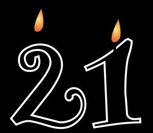21st birthday clipart images ; 21st-birthday-candles