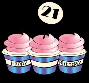 21st birthday clipart images ; 21st-birthday-cupcakes