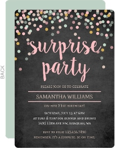 21st birthday invitation card design ; corolful-confetti-chalkboard-susprise-birthday-inv_2955_151504_0_big_rounded