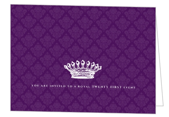 21st birthday invitation card design ; royal-purple-21st-birthday-invitation_2621_1_large