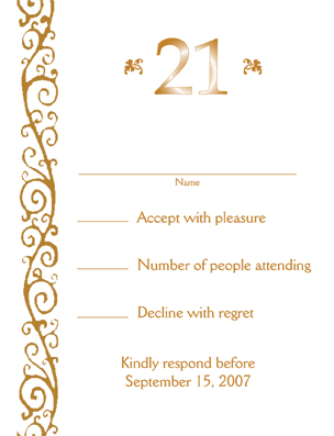 21st birthday invitation card template ; 21st_002_res