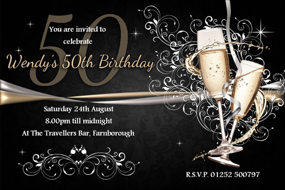 21st birthday invitation templates photoshop ; Personalised-18th-21st-30th-40th-50th-60th-Birthday-Party-Invitations