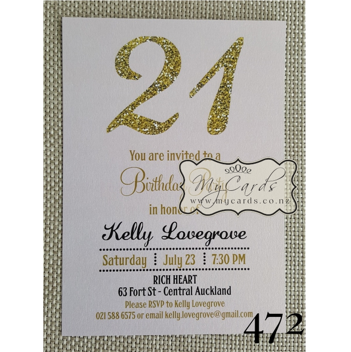 21st birthday photo invitations designs ; gold-pink-birthday-invitation-21st-auckland-nz-MYCARDS-4721
