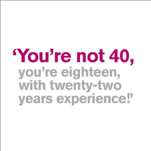 40 birthday greeting messages ; 40th-birthday-cards-you-are-not-forty-eighteen-with-twenty-two-years-experience-white-background-simple-text-greeting-wishes