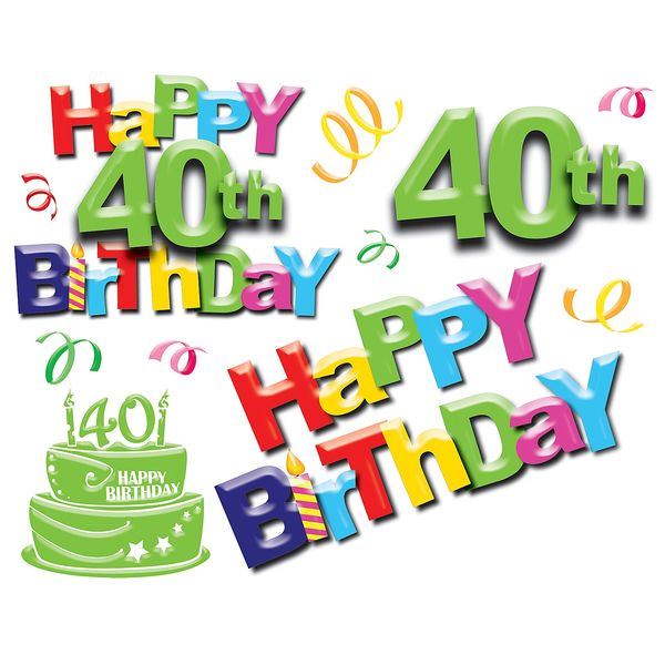 40th birthday border clip art ; 14-40th-Birthday-Images-Graphics-Free