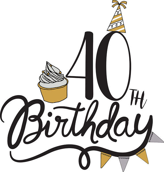 40th birthday clipart pictures ; il_570xN