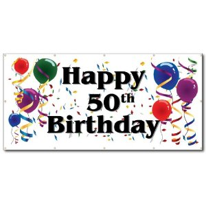 50th birthday banners with photo ; 289f446f6daddcb0ee80329bc91d03b6