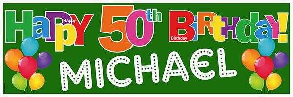 50th birthday banners with photo ; 50th%2520Birthday%2520Banner