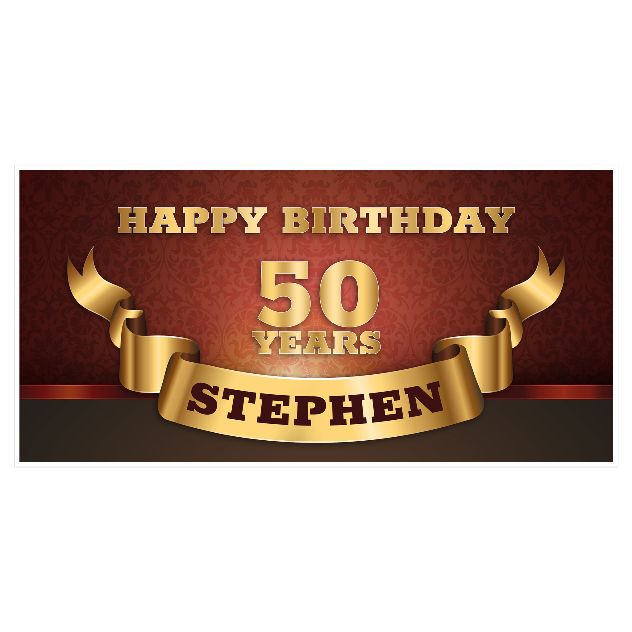 50th birthday banners with photo ; 50th-birthday-banner-05