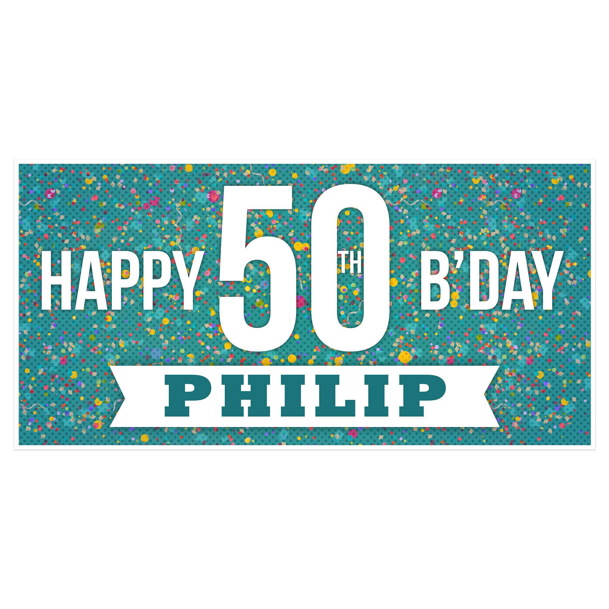 50th birthday banners with photo ; 50th-birthday-banner-06