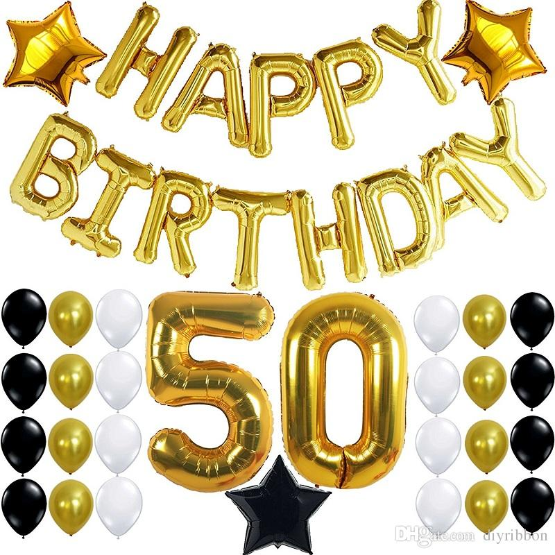 50th birthday banners with photo ; 50th-birthday-party-decorations-kit-with