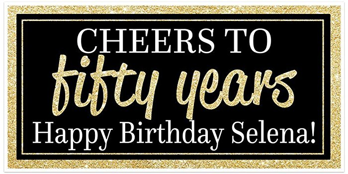50th birthday banners with photo ; 71ADLDl7J9L