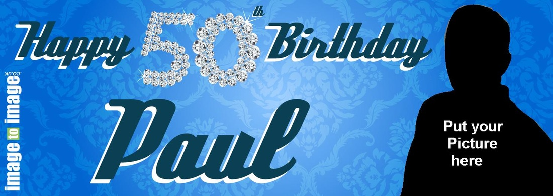50th birthday banners with photo ; 8844884_orig