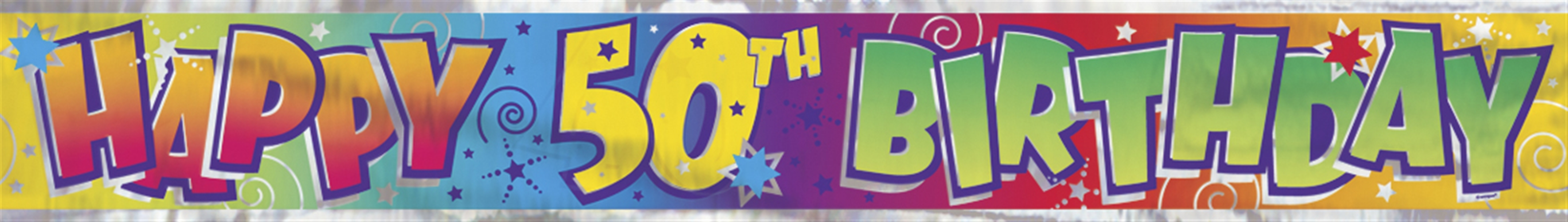 50th birthday banners with photo ; 90025