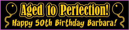 50th birthday banners with photo ; BD50171-1