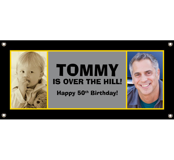 50th birthday banners with photo ; banners-milestone50