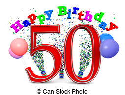50th birthday border clip art ; -drawings_csp16274536