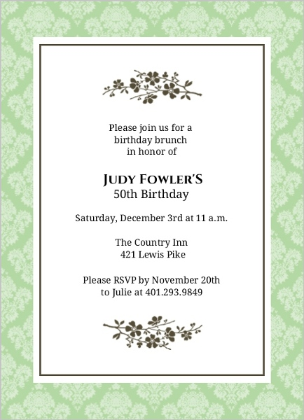 50th birthday invitation card designs ; simple-elegant-flower-50th-birthday-invitation_2836_1_large