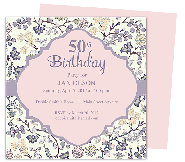 50th birthday invitation cards printable ; 865d3550d2a7b6923d48a1c0e83e3e39