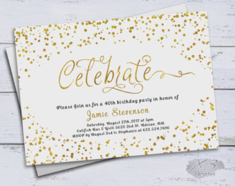 50th birthday invitation cards printable ; il_340x270