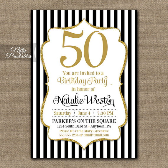 50th birthday invitation cards printable ; il_570xN