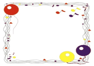50th birthday party borders ; signs-clipart-balloons-border