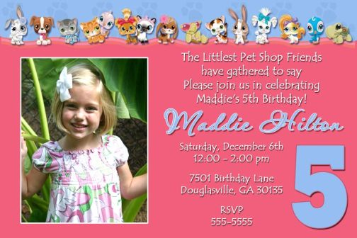 5th birthday invitation card template ; 5th-birthday-invitations-littlest-pet-shop-5th-birthday-invitation-any-age
