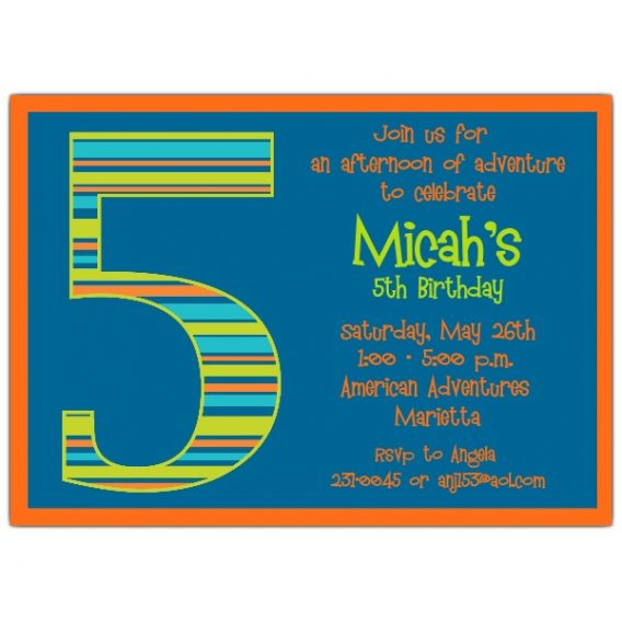 5th birthday invitation quotes ; 5th-birthday-party-invitation-wording-to-inspire-your-outstanding-Birthday-invitations-designs-5-568x568