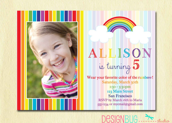 5th birthday invitation quotes ; rainbow-birthday-invitation-girls-rainbow-party-photo-5th-birthday-invitation-wording-for-a-girl