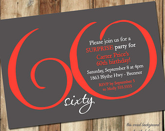 60th Birthday Invitation Cards Design Best Happy Wishes