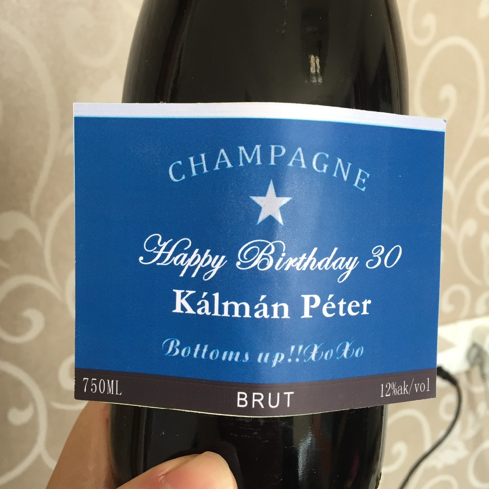 60th birthday wine bottle label ; Personalised-Wine-Champagne-Bottle-Label-blue-grandfather-father-man-male-happy-60th-birthday-Gift-Present-Ideas