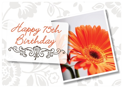 75 birthday wishes greeting cards ; bdy1110-2