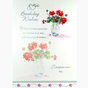 85th birthday card wishes ; s-l300