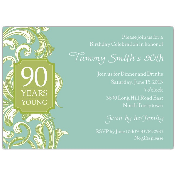 90th birthday borders ; 609-75-082-S90-z