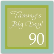 90th birthday borders ; 90th-Birthday-Border-Scroll-Seafoam-Square-Stickers-p-609-SS-082-S90-tn