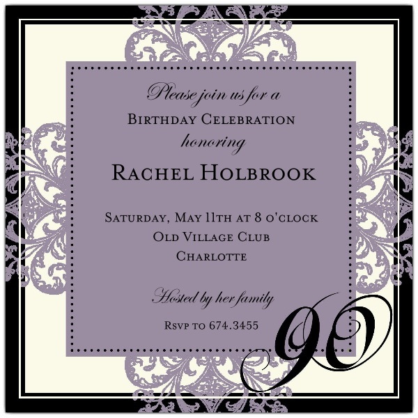 90th birthday borders ; 90th-birthday-invites-decorative-square-border-eggplant-90th-birthday-invitations