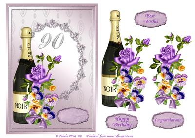 90th birthday borders ; cup473033_117