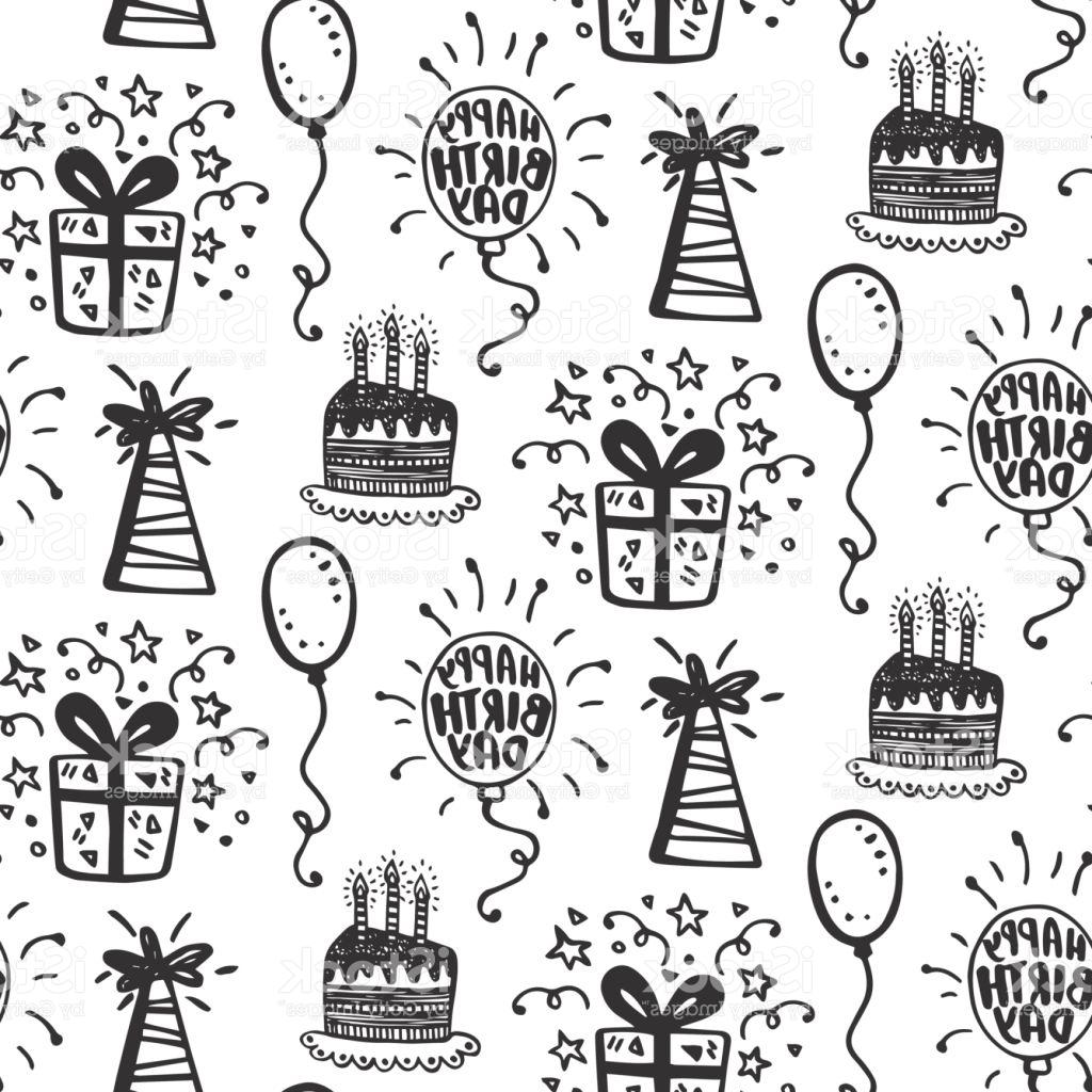 a birthday party drawing ; best-free-birthday-party-seamless-patterns-with-hand-drawn-doodles-vector-drawing