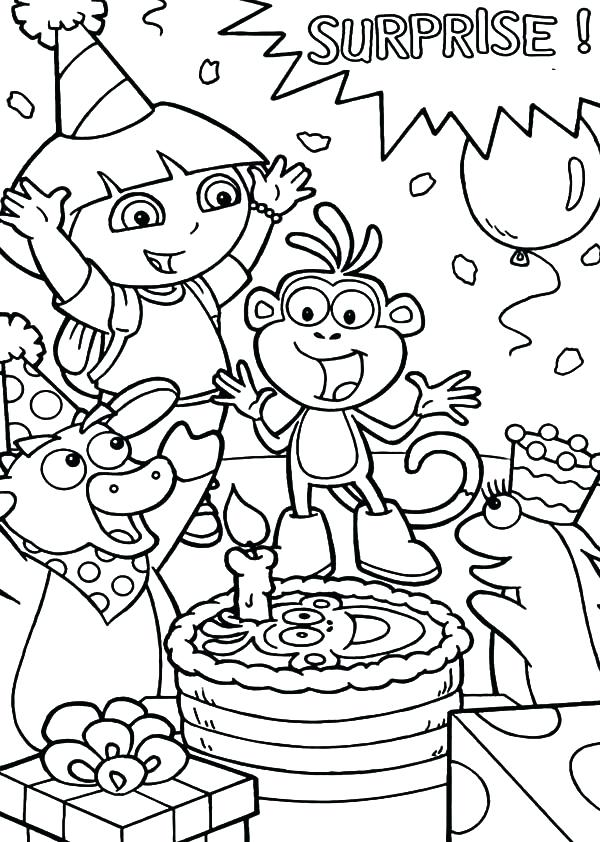a birthday party drawing ; birthday-party-coloring-page-birthday-coloring-pages-1-birthday